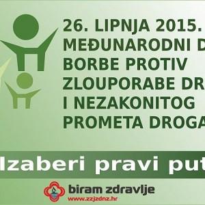 Javnozdravstvena aktivnost povodom Međunarodnog dana borbe protiv zlouporabe droga i nezakonitog pr