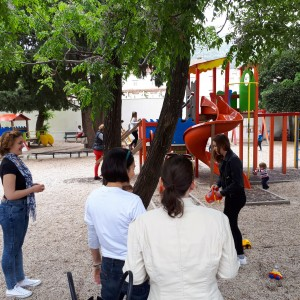 """""""Volonteri u parku"""" u dječjem parku na šetinici u Uvali Lapad"""