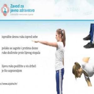 Vježba dodirivanje stopala